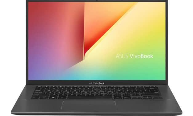 """Asus VivoBook S412UA-EK383T, Ultrabook 14"""" sobre fin léger et rapide avec SSD 500 Go (479€)"""