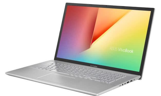 "<span class=""promo"">Promo 1039€</span> Asus VivoBook S712FA-AU588T, 17 pouces fin et rapide multimédia"
