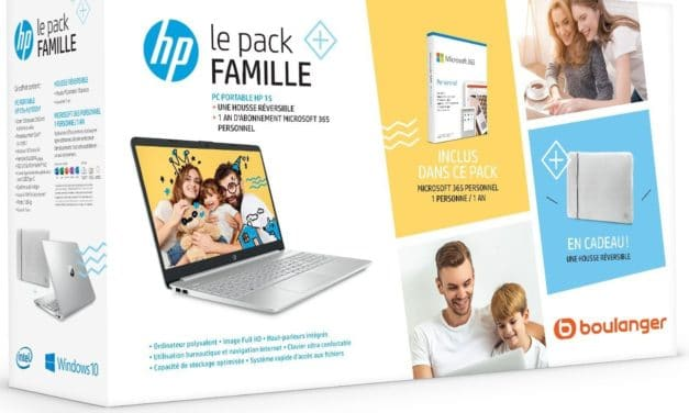 "<span class=""promo"">Promo 599€</span> HP 15s-fq1032nf, Ultrabook 15"" argent fin rapide léger SSD 500 Go + pack housse et Office 365"