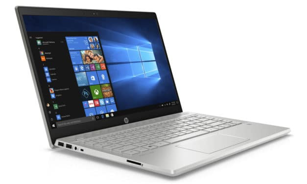 "<span class=""promo"">Promo 549€</span> HP Pavilion 14-ce3034nf, Ultrabook 14"" argent rapide fin léger avec gros stockage et Wi-Fi ax"