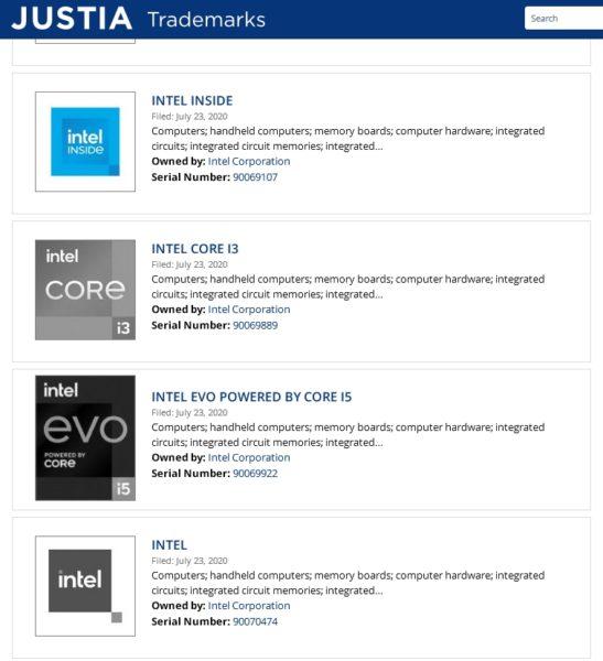 Intel logos 2020