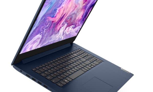 "Lenovo IdeaPad 3 17IIL05, Ultrabook 17"" polyvalent bleu ou argent fin et léger avec Intel Ice Lake et NVIDIA GeForce"