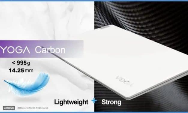 """Lenovo Yoga Carbon, Ultrabook 13"""" léger avec Intel Tiger Lake et 16h d'autonomie en préparation"""