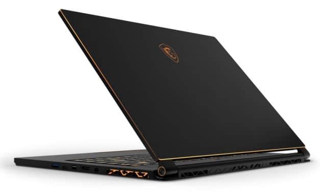 MSI GS65 9SF-1671FR, ultrabook gamer 15 pouces puissant et léger RTX 2070 Max-Q (2209€)