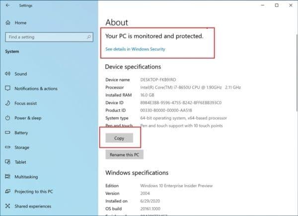 Windows 10 Build 20161 Panneau de Configuration Paramètres.
