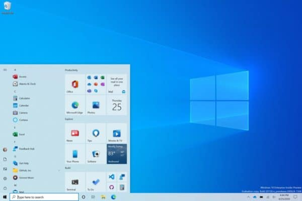 Windows 10 nouveau design menu démarrer