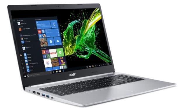 """<span class=""""nouveau"""">Nouveau 1099€</span> Acer Aspire 5 A515-54G-72V2, Ultrabook 15"""" argent polyvalent nomade 9h fin léger et rapide"""