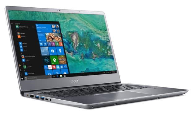"""Acer Swift SF314-58-59DZ, Ultrabook 14"""" argent nomade 7hy léger fin et rapide avec Wi-Fi ax (719€)"""