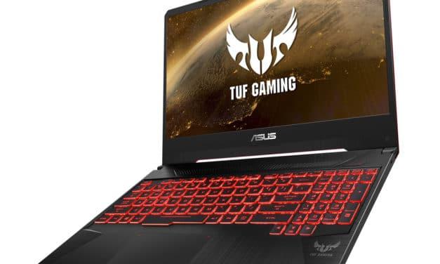 "Asus TUF505DV-HN232T, PC portable 15"" 144Hz gamer AMD léger GeForce RTX 2060 (1299€)"