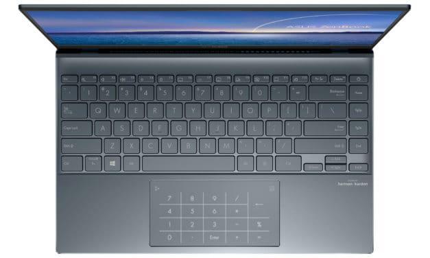 """Asus Zenbook BX425JA-BM121R, Ultrabook 14"""" Pro argent léger fin rapide NumPad et RAM 16 Go TB3 (1109€)"""