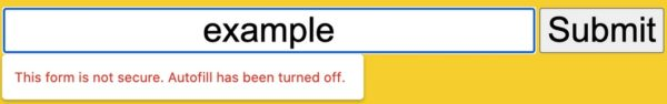 Google Chrome 86 alerte formulaires non securises
