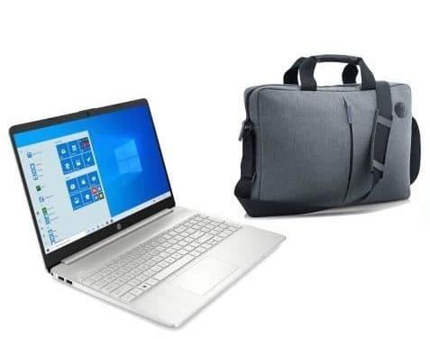 """HP 15s-fq1036nf, Ultrabook 15"""" argent pas cher fin rapide léger + sacoche et imprimante (429€)"""