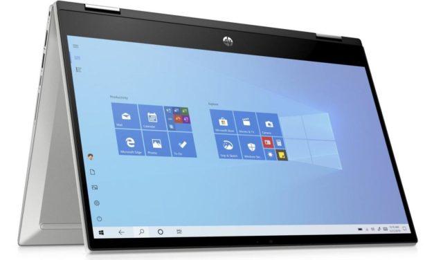 """HP Pavilion x360 14-dw0016nf, ultrabook 14"""" convertible tablette bureautique rapide (617€)"""