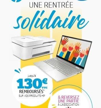 """<span class=""""tagtitre"""">Bon Plan - </span>jusqu'à 130 euros remboursés par HP pour l'achat d'un PC portable"""