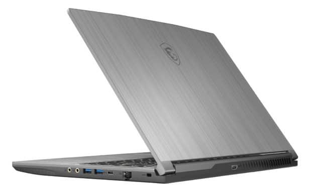 """MSI WF65 10TH-1211FR, Ultrabook 15"""" argent pour créateurs Pro, fin léger rapide 1.2 To Quadro P620 (1749€)"""