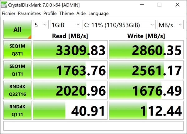 Test Acer ConceptD 7 CN715-71 - SSD