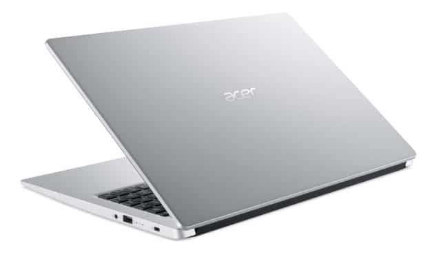 """<span class=""""nouveau"""">Nouveau 475€</span> Acer Aspire 3 A315-23-R6U8, PC portable 15"""" pas cher argent élégant fin, léger et rapide avec SSD 512 Go"""