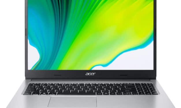 """<span class=""""nouveau"""">Nouveau 599€</span> Acer Aspire 3 A315-23-R9A1, PC portable 15"""" polyvalent argent léger fin et rapide avec SSD 512 Go"""