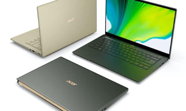 Acer Swift 3 et Acer Swift 5 2020, nouveaux ultrabooks légers sous Intel Tiger Lake Gen11