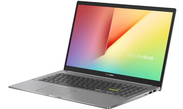"""Asus VivoBook S15 S533FA-BQ014T, Ultrabook 15"""" noir léger fin et rapide avec Wi-Fi ax (879€)"""