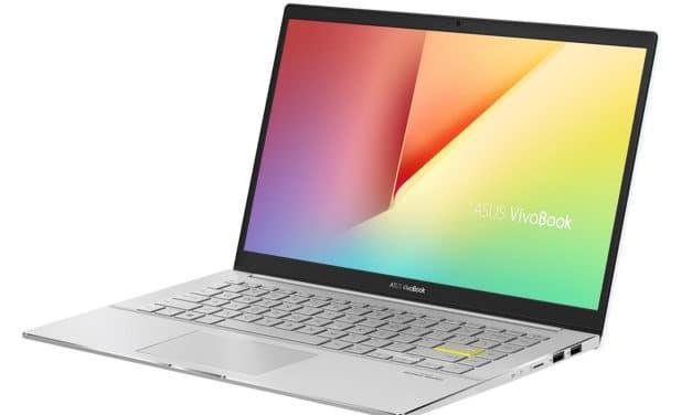 Asus VivoBook S433IA-EK623T, 14 pouces blanc léger et puissant Octo Core (839€)
