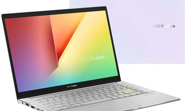 Asus Vivobook S433FA-EK308T, ultrabook bureautique 14 pouces blanc reflets (599€)