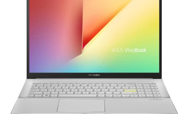 """Asus Vivobook S533IA-EJ144T, PC portable 15"""" blanc argent polyvalent rapide léger et fin RAM 16 Go (799€)"""