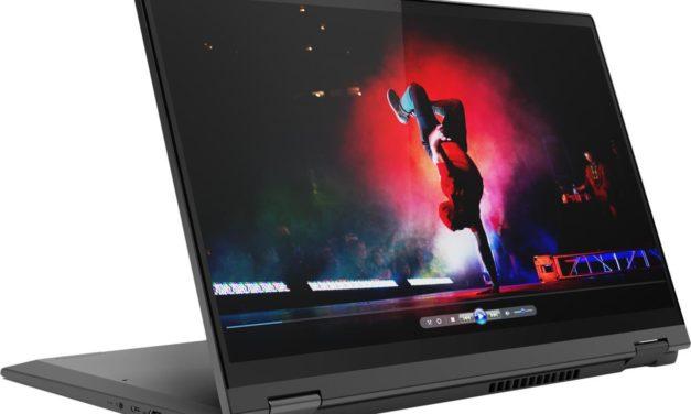 Lenovo IdeaPad Flex 5 15IIL05, 15 pouces convertible tablette 4K HDR et stylet pour multimédia (1495€)