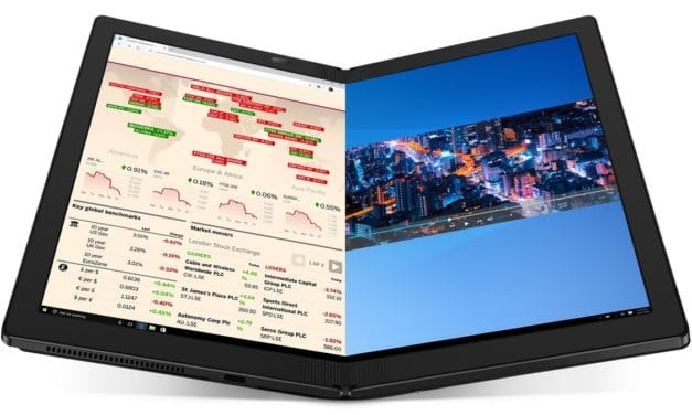 "Lenovo ThinkPad X1 Fold, le PC portable à écran pliable OLED 13"" 2K tactile 5G et Intel Lakefield Core i5-L16G7 officiel 999gr"