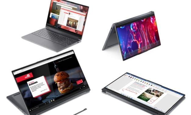 """Lenovo Yoga 9 15IMH5, Ultrabook 15"""" 4K tactile > Tablette joueur et créateur 13h Octo Core i9 GeForce GTX TB3"""