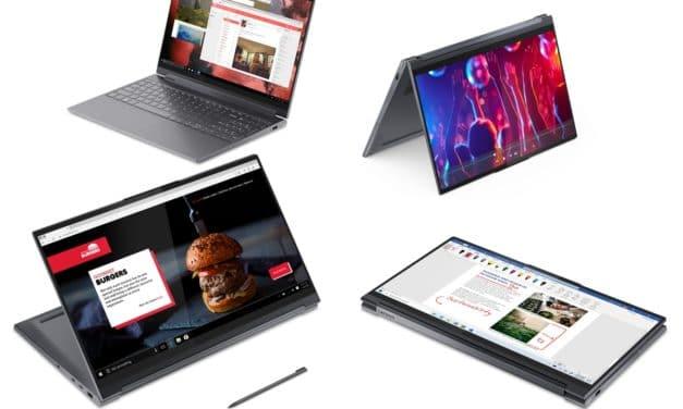 "Lenovo Yoga 9i, Ultrabook 14"" et 15"" 4K tactile > Tablette nomade 18h avec Tiger Lake, Thunderbolt 4 et Wi-Fi ax"
