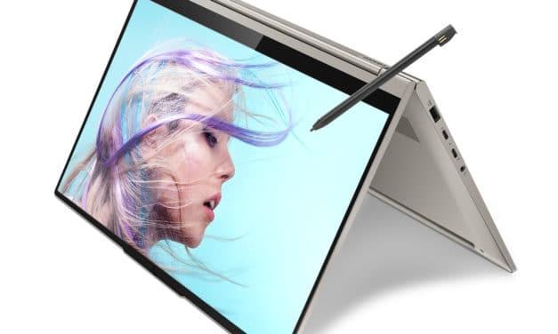 "Lenovo Yoga C940-14IIL, ultrabook 14"" convertible en tablette rapide premium (1619€)"