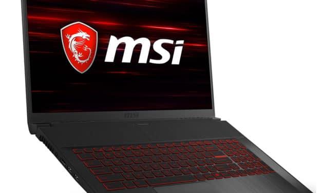 MSI GF75 10SCXR-283FR, PC portable gamer 17 pouces compact 144Hz (799€)