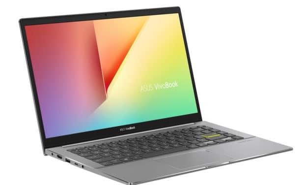 """Asus Vivobook S433IA-EB181T, PC portable 14"""" polyvalent AMD sombre fin rapide et léger (679€)"""