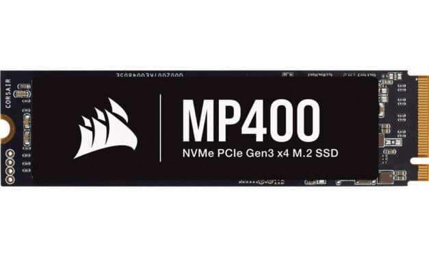 Corsair MP400, nouveaux SSD M.2 NVMe garantis 5 ans, jusqu'à 8 To de stockage