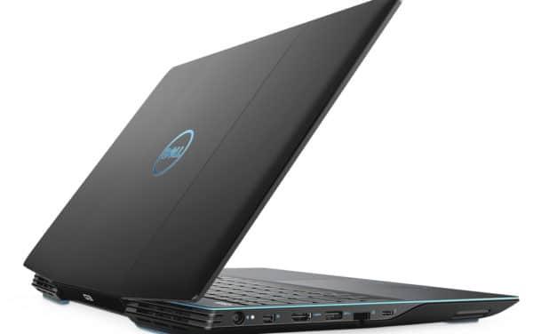 "Dell G3 15 3500, PC portable 15"" 120Hz polyvalent gamer GTX 1650 Ti et SSD (899€)"
