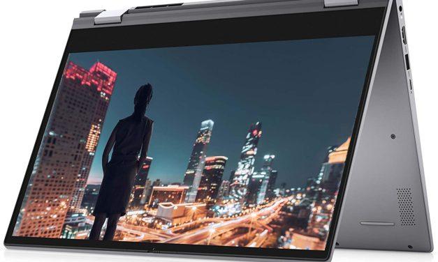 """Dell Inspiron 14 5400 2-en-1, Ultrabook 14"""" 2-en-1 tactile > Tablette argent rapide fin et léger avec SSD 7h (639€)"""