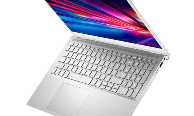 """Dell Inspiron 15 7501, Ultrabook 15"""" argent fin et léger pour créatifs et joueurs avec GTX 1650 Ti TB3 (899€)"""