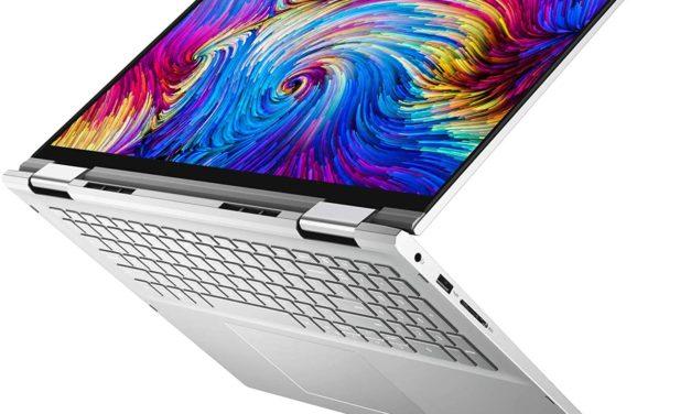 "Dell Inspiron 7706 2-en-1, PC portable 17"" 2K tactile > Tablette polyvalent Tiger Lake Iris Xe GeForce MX350 TB4 fin"