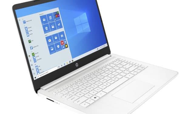 """HP 14s-fq0071nf, PC portable 14"""" blanc pas cher léger fin et rapide avec SSD et USB-C (270€)"""