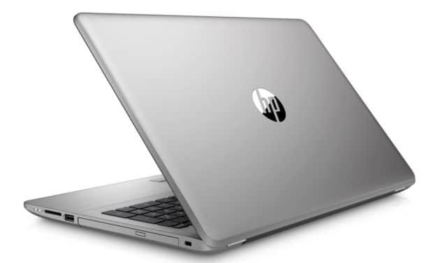 """HP 250 G7 (1F3P9EA), PC portable 15"""" pas cher léger argent avec SSD et graveur CD/DVD (529€)"""
