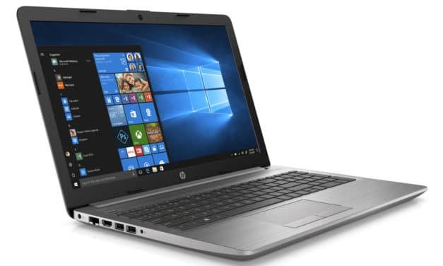 """HP 250 G7 (1F3Q2EA), PC portable 15"""" noir pas cher léger avec gros stockage et graveur CD/DVD (454€)"""