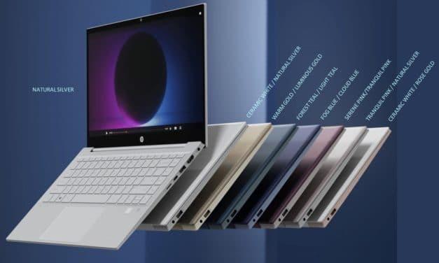 """HP Pavilion 13"""" et 14"""", nouveaux Ultrabooks colorés Tiger Lake 4K avec boîtier en plastique recyclé GeForce MX450"""