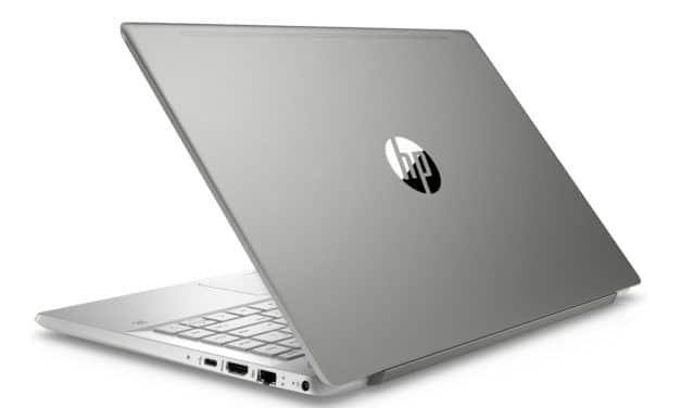 """HP Pavilion 14-ce3013nf, Ultrabook 14"""" compact argent fin léger et rapide avec SSD 512 Go (719€)"""