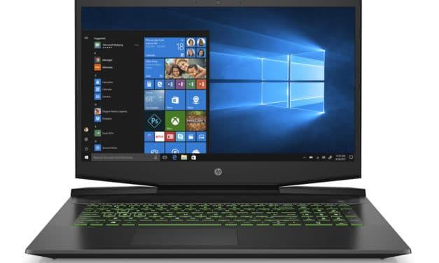 "HP Pavilion Gaming 17-cd1018nf, PC portable 17"" pour créateur et gamer GTX 1650 Ti Wi-Fi ax 1.1 To (1199€)"