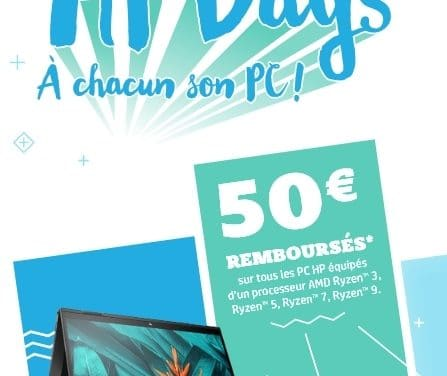 """<span class=""""tagtitre"""">Bon Plan - </span>HP rembourse 50 euros sur les PC portables avec processeur AMD Ryzen"""