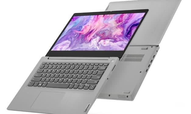 """Lenovo IdeaPad 3 14IIL05 (81WD0032FR), PC portable 14"""" Full HD argent rapide léger et fin avec SSD (549€)"""