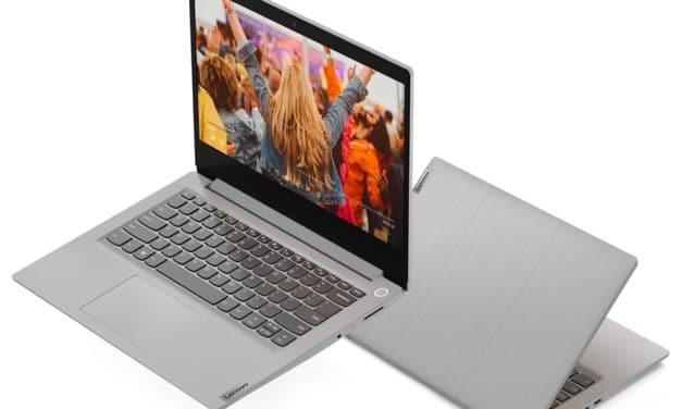 """Lenovo IdeaPad 3 14IML05 (81WA0033FR), Ultrabook 14"""" pas cher argent fin rapide et léger avec SSD (429€)"""