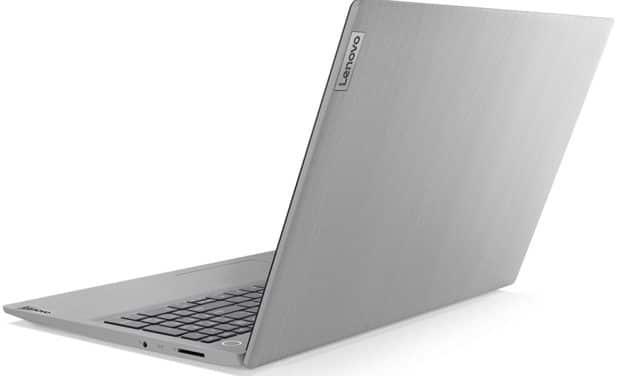 "Lenovo IdeaPad 3 15IIL05 (81WE00MSFR), Ultrabook 15"" Full HD argent pas cher léger et rapide avec SSD (399€)"
