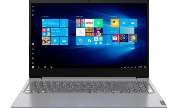 """<span class=""""nouveau"""">Nouveau 545€</span> Lenovo V15-IIL (82C500HGFR), Ultrabook 15"""" Full HD argent pas cher fin et léger avec Quad Core i5 et SSD"""